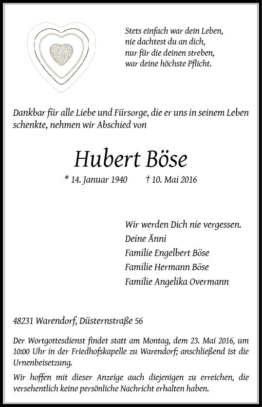 Böse, Hubert