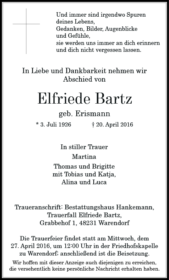 Bartz, Elfriede