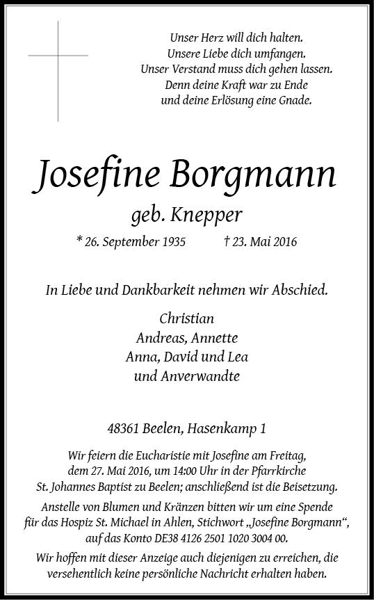Borgmann, Josefine