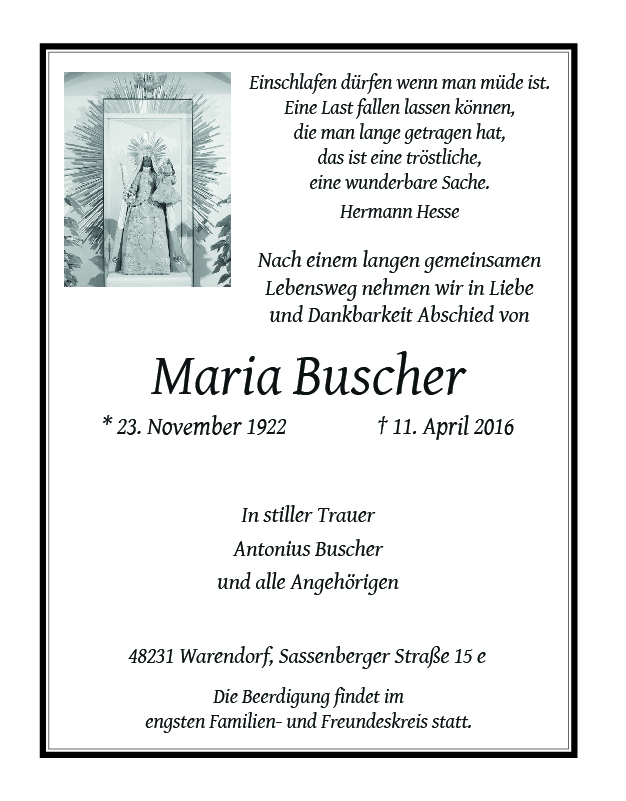 Buscher, Maria