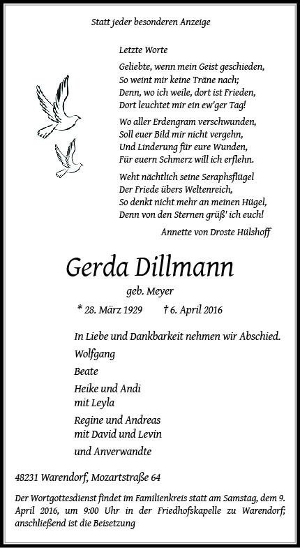 Dillmann, Gerda