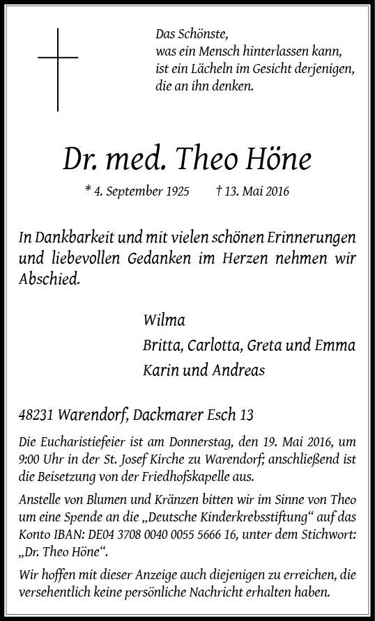 Höne, Theo Dr. med