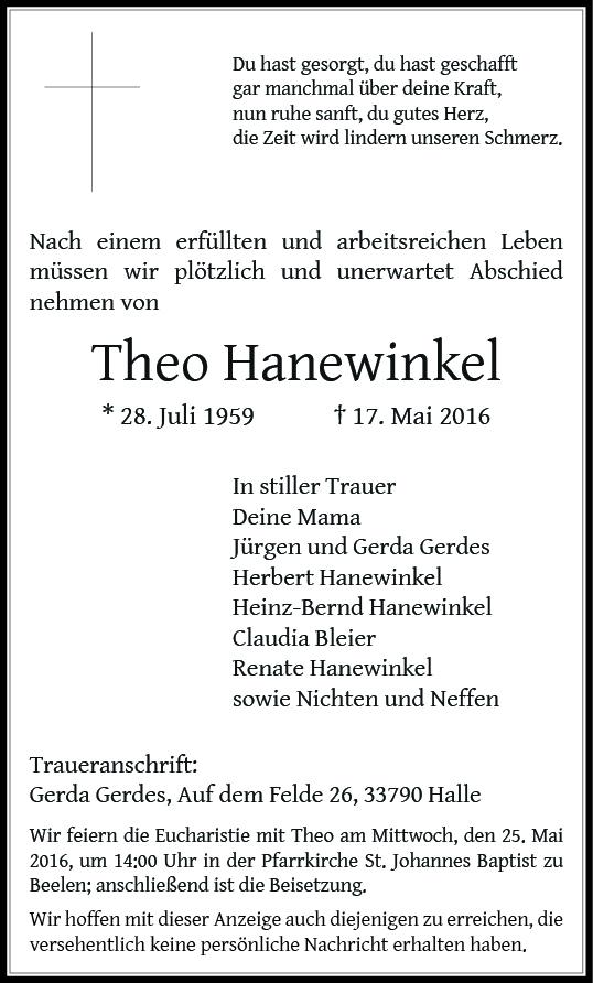 Hanewinkel, Theo