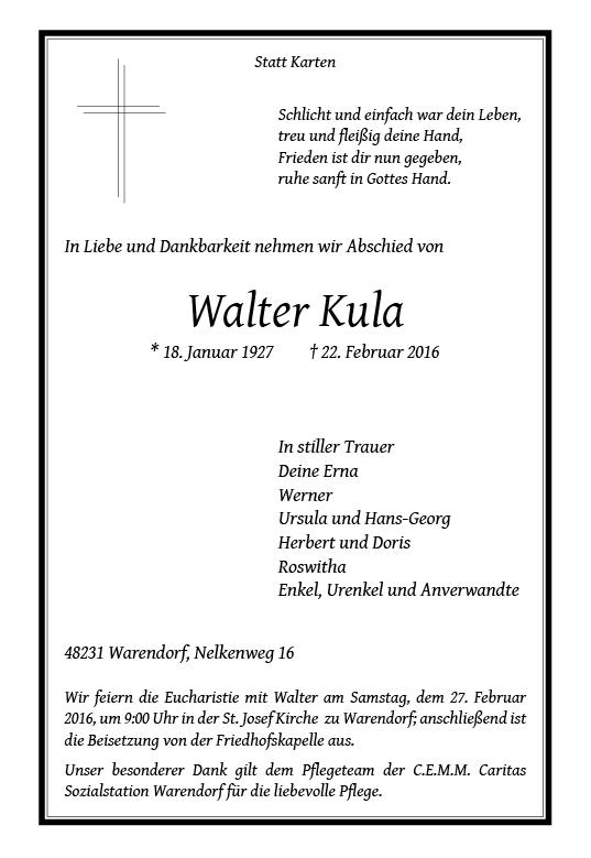 Kula, Walter