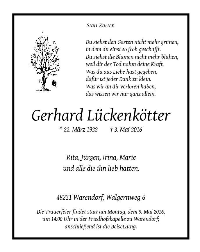 Lueckenkoetter, Gerhard