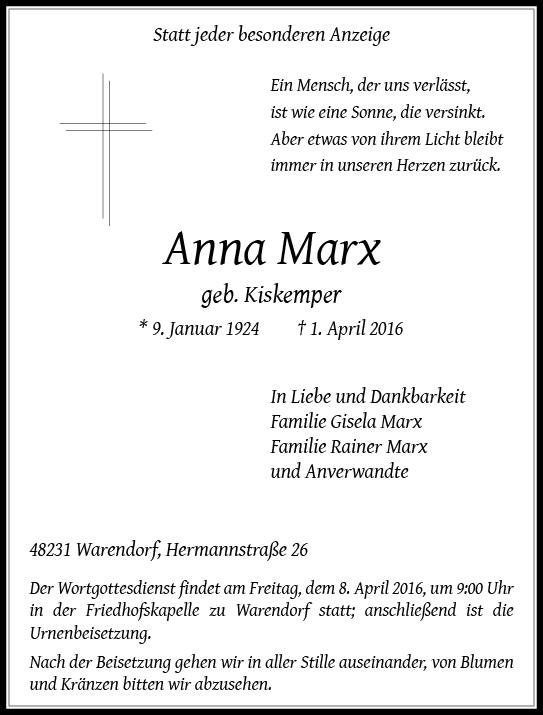 Marx, Anna