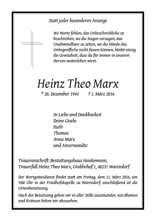 Marx, Heinz Theo