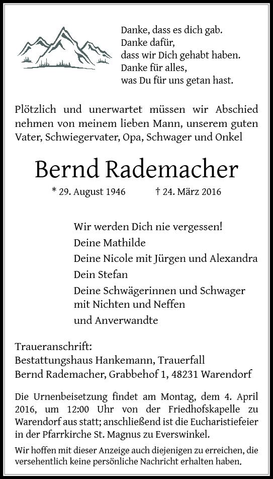 Rademacher, Bernd