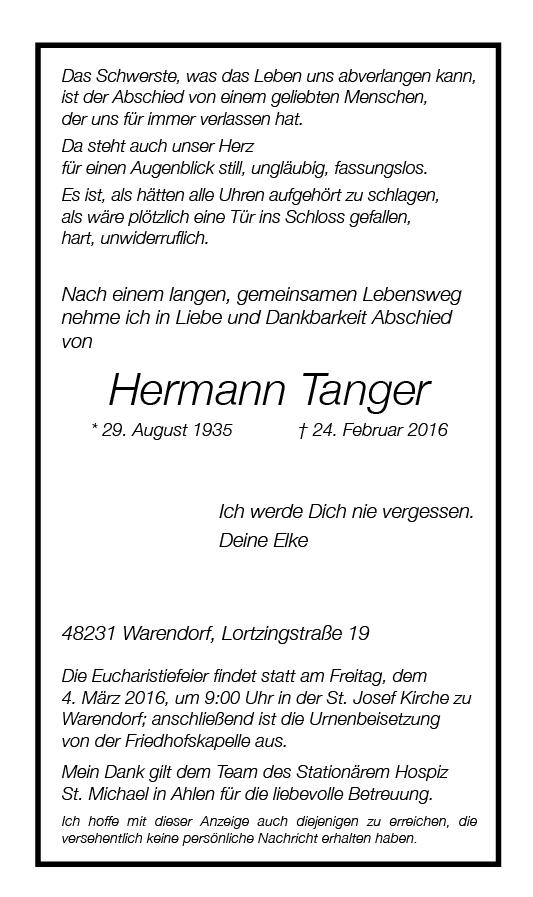 Tanger, Hermann