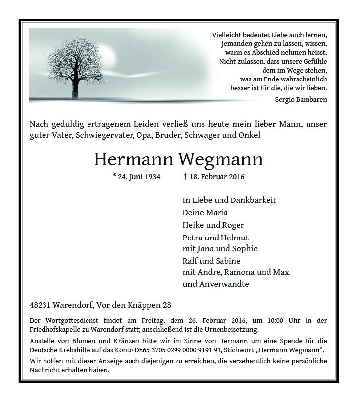 Wegmann, Hermann