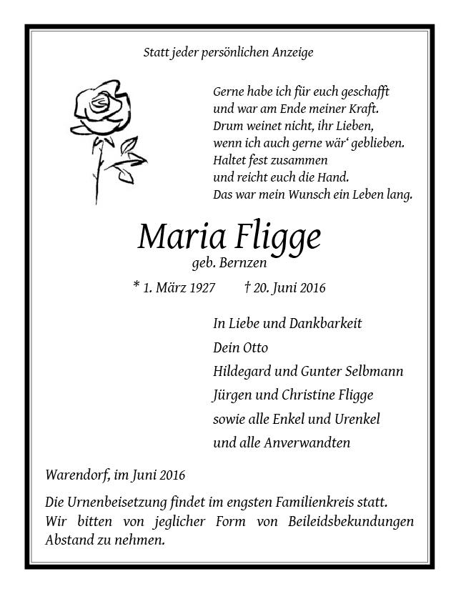 Fligge, Maria