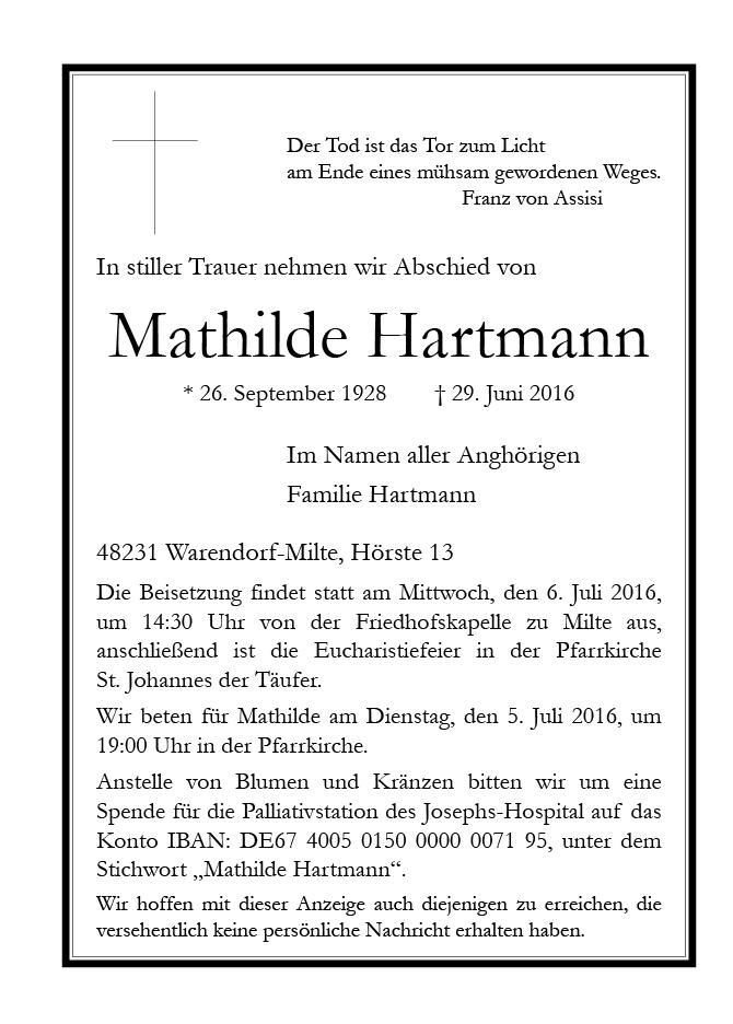 Hartmann, Mathilde