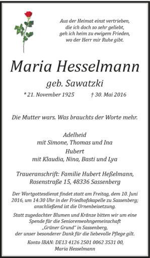 Hesselmann, Maria