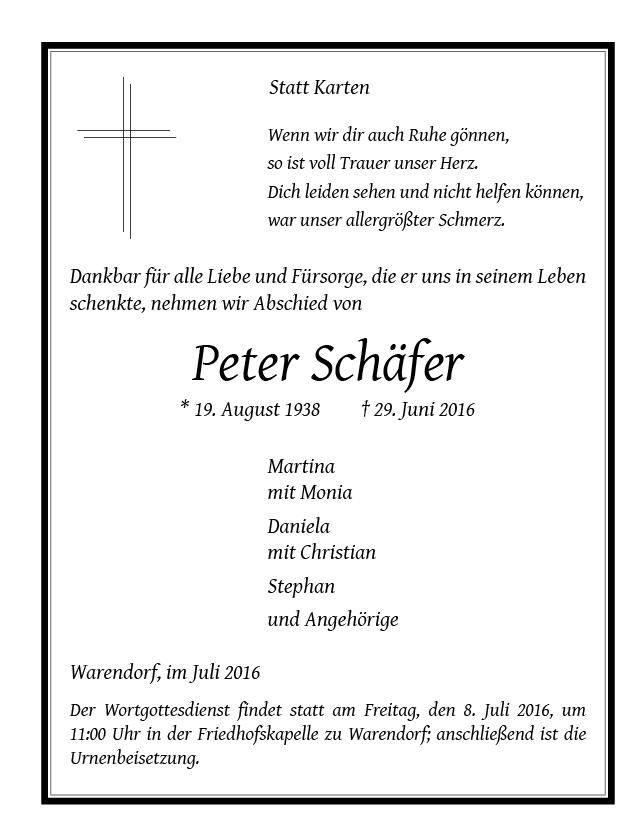 Schaefer, Peter