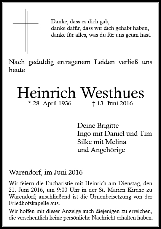 Westhues, Heinrich
