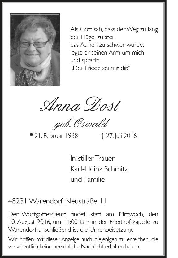 Dost, Anna