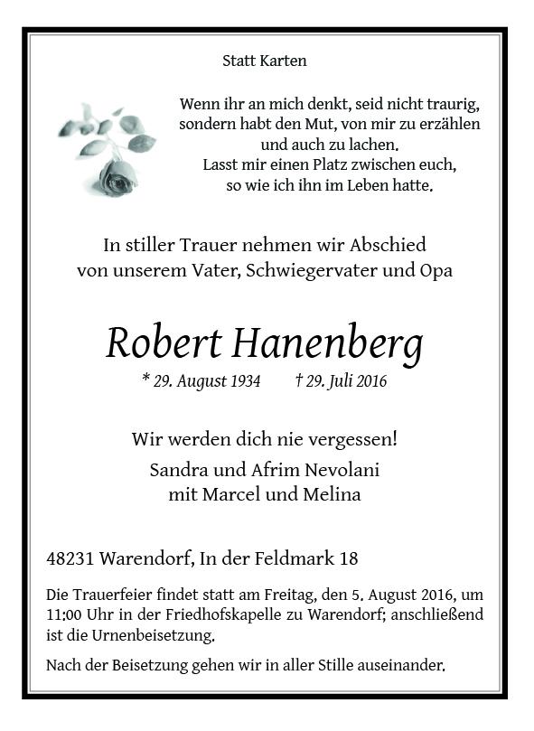 Hanenberg, Robert