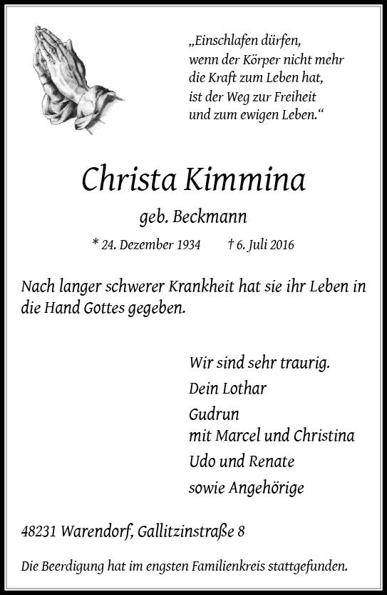 Kimmina, Christa