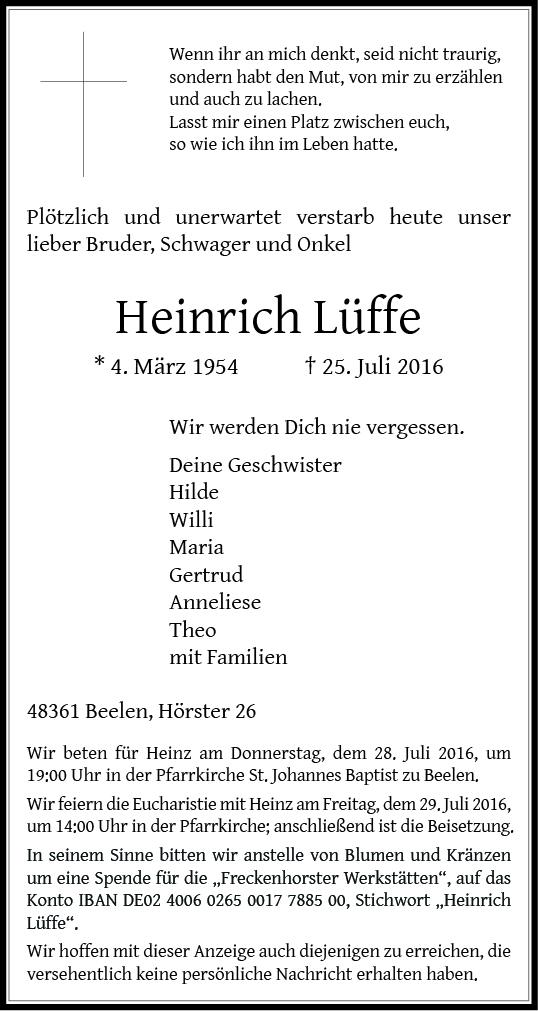 Lueffe, Heinrich
