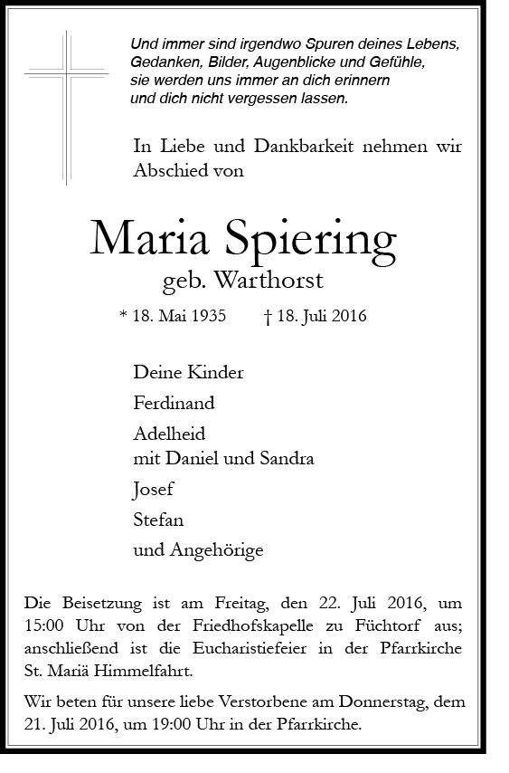 Spiering, Maria