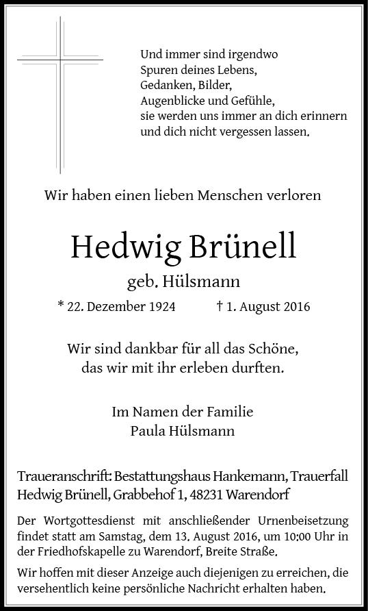 Brünell, Hedwig