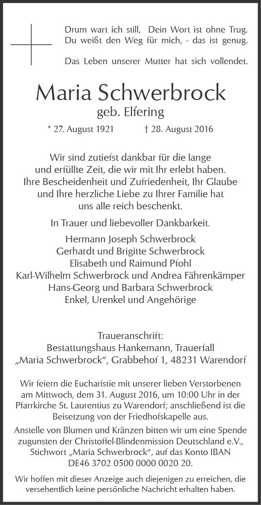 Schwerbrock, Maria