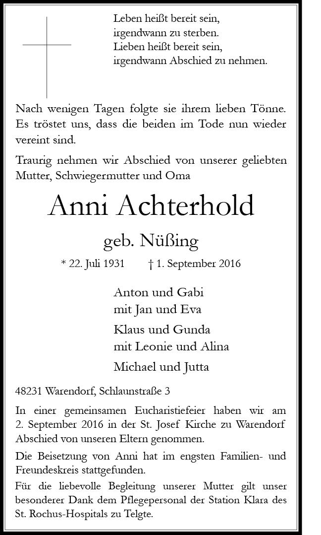 Achterhold, Anni